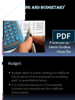 Final Budgeting and Budgetary Control