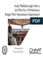 Pre-study Walkthrough with a Commercial Pilot for a Preliminary Single Pilot Operations Experiment