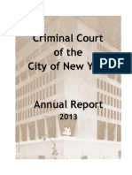 2013 Annual Report from NYC Criminal Court