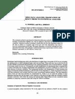 Eradication of Time Dependency in Leaching Data
