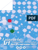 Ungarische Art - Programmheft September-Dezember 2014