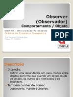 Padrões de Projetos - Observer