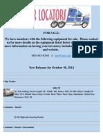 New Release - October 30, 2014