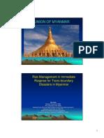 Disaster Management in Myanmar