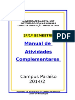 Atividades Complementar 2º e 1º Semestres 2014.2