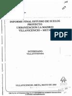 Informe Final Estudio de Suelos Villavicencio