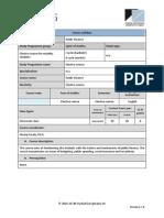 Public Finance - 2014-2015 - Course Syllabus