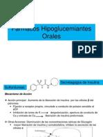 Fármacos Hipoglucemiantes Orales