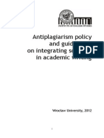 Plagiarism Policy