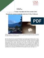 Erupción del Volcán Turrialba. 29 octubre 2014.