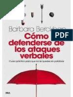 Como defenderse de los ataques verbales - Barbara Berckhan