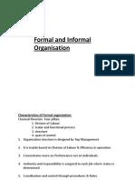 Formal and Informal Organisation