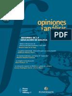 82 Reforma de La Educación en Bolivia