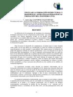EL DESAFIO DE VINCULAR LA FORMACIÓN ESTRUCTURAL Y EL CONTEXTO PROFESIONAL