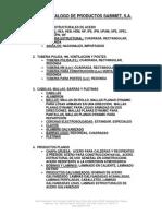 Catalogo de Productos Sabimet Acero