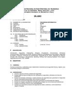 Silabo Seguridad Informatica - Is444 - Actualizado