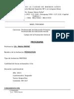 ENS N 1- CFG-Pedagogía-2do Cuatrimestre 2014