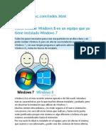 Como Instalar Windows 8 en Un Equipo Que Ya Tiene Instalado Windows 7