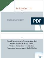 No Te Rindas Arnaldiz J. Rodriguez