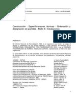 NCh 1156-4.Of1999 Construccion - Especificaciones tecnicas - Ordenacion y designacion de Partidas.pdf