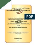 Proyecto Linea de Investigacion Doctorado Educación