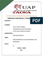 Manual de Procedimientos de Universidad Alas Peruanas