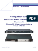 LTRT-26005 Mediant 1000 2000 MS OCS 2007 R2 Configuration Guide Ver 5 6