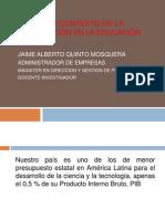 REALIDAD Y CONTEXTO DE LA INVESTIGACIÓN EN LA.ppt