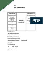 Regulation - Emergency Regulation