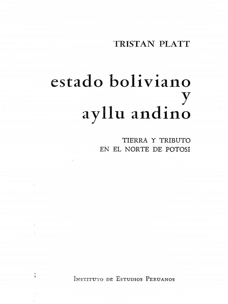 Platt Tristan_Estado Boliviano y Allu Andino