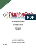 Triathlon Geek Sprint Distance Triathlon Training Plan