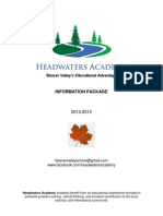 Headwaters Academy Information Package