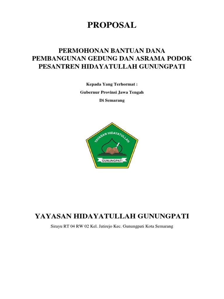 Proposal Permohonan Bantuan Ponpes