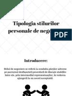 Tipologia Stilurilor Personale De negociere