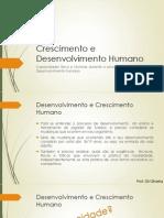 Aula 2 - Crescimento e Desenvolvimento Humano