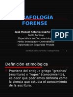 GRAFOLOGÍA  FORENSE . presentacion