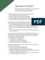 Soal Biomedik 1 2012-2013