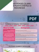 Dilema Pengelolaan Energy Di Indonesia