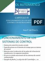 Funcionamiento Sistemas Control Retroalimentacion