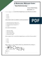 Basic Electronics Quiz