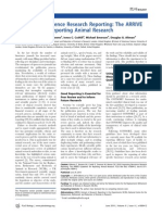 Improving Bioscience Research Reporting the ARRIVE Guidelines for Reporting of Animal Research