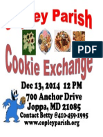 Copley Parish Cookie Exchange Flyer 2014