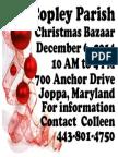 Christmas Bazaar Flyer 2014