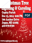 Copley Parish Christmas Lighting Flyer 2014