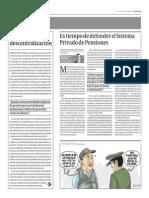 Es Tiempo de Defender El Sistema Privado de Pensiones_Gestión 30-10-2014
