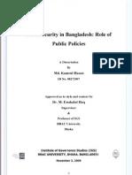 Food Security in Bangladesh