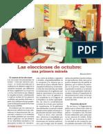 Las elecciones de octubre:una primera mirada