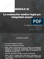 La Evaluacion Medico Legal Por Integridad Sexual