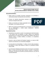 30-10-14 Relaciones Bilaterales México - India