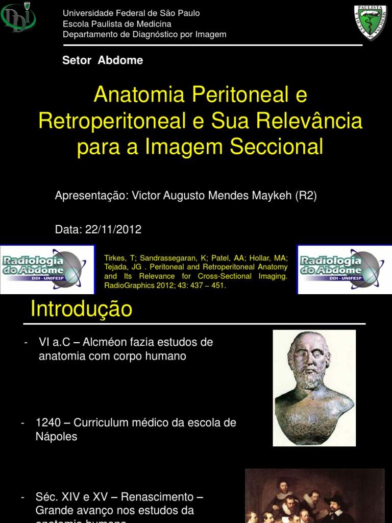 Bonito Radiología Anatomía Retroperitoneal Colección - Imágenes de ...